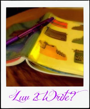 my favorite writing journal.polaroid frame