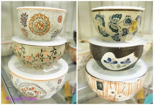 small ceramic bowl, Miyabi, $2.99/ea. (compared at $6.00/ea.); medium ceramic bowl, $3.99/ea. (compared at $8.00/ea); large ceramic bowl, $4.99/ea. (compared at $10.00/ea.)