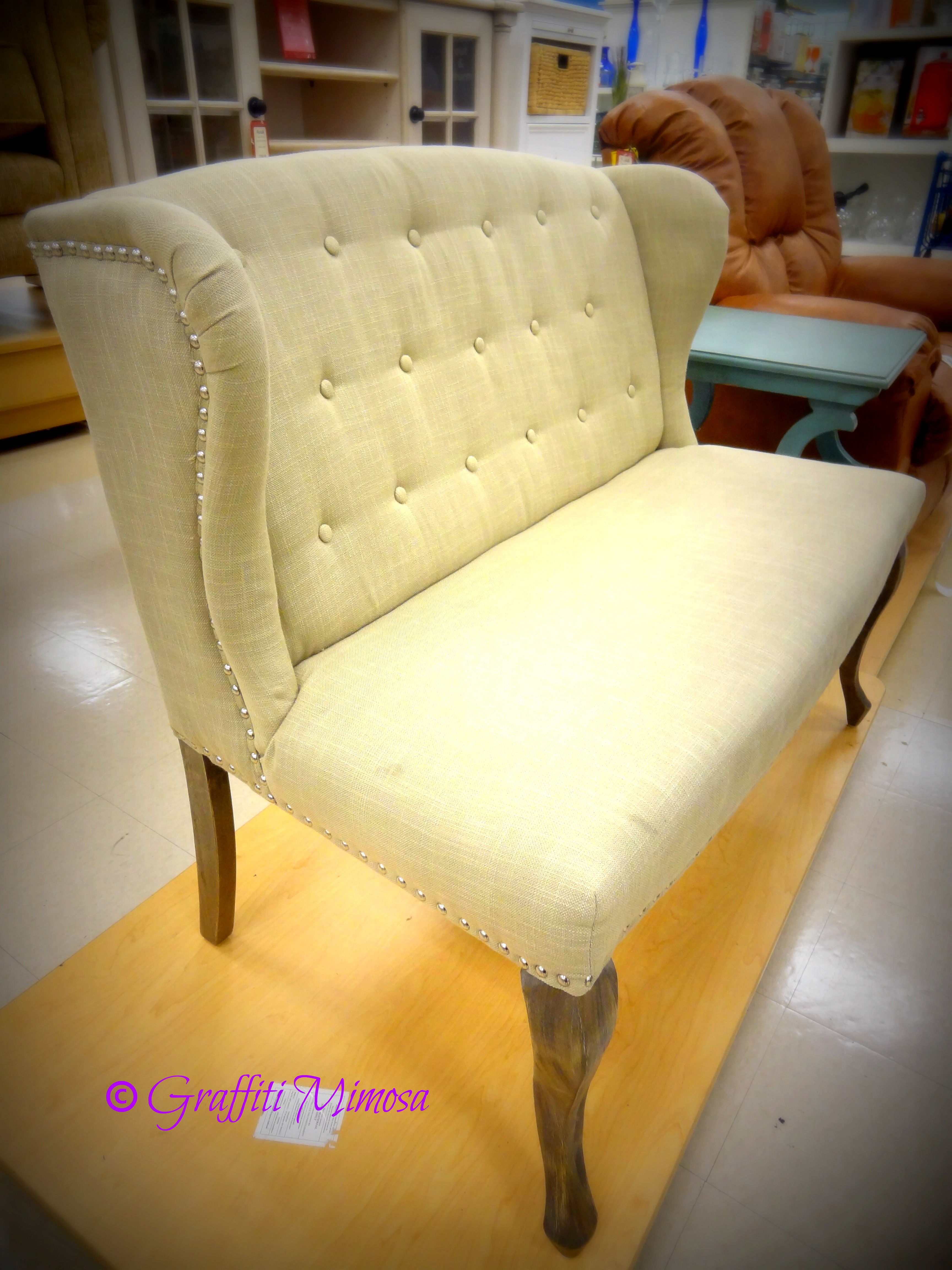 Settee With Nail Head Studs, Broyhill Furniture
