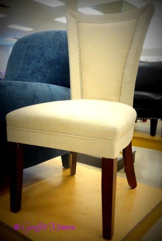 single chair with nail-head studs, Broyhill Furniute, $149.99